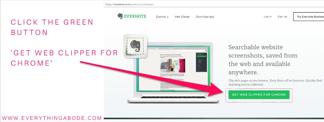 Evernote Web Clipper Guide Step 2, Evernote.com Everythingabode.com
