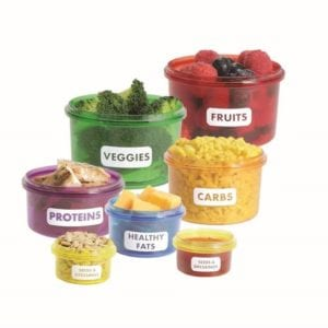 Healthy Living Perfect Portions Food Storage Containers - Everything Abode