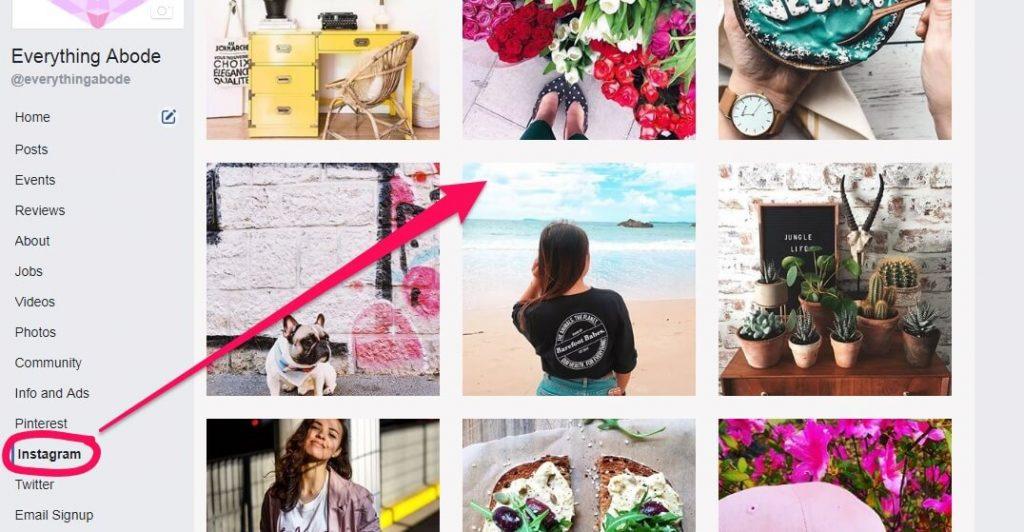 Instagram Tab on Facebook, www.everythingabode.com