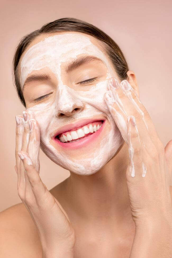 Incorporate a healthy skincare routine -- morning and night.