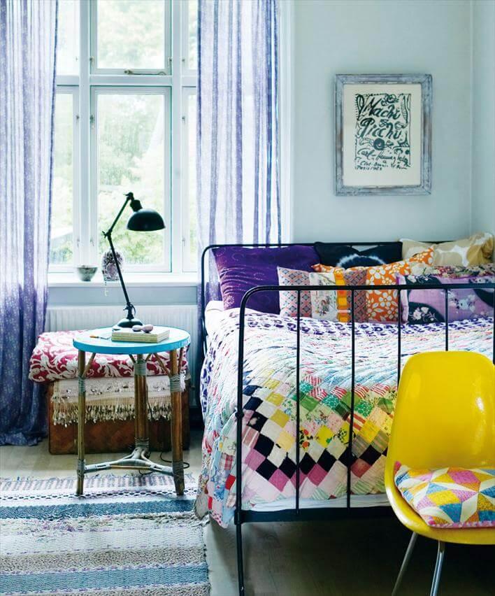 Made by girl via huss and hum magazine - 14 Secrets To Creating A Boho Chic Abode! www.Everythingabode.com