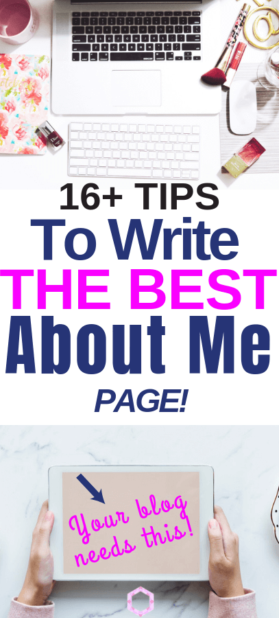 How To Create The Perfect About Page For Your Blog! How to create an epic about me page. create your own stunning blog. About page template, about page design. Writing tips. Blogging tips.