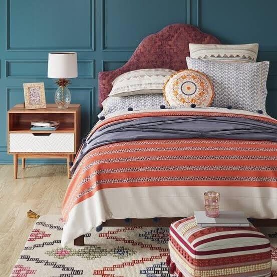 When choosing bohemian fabrics choose soft