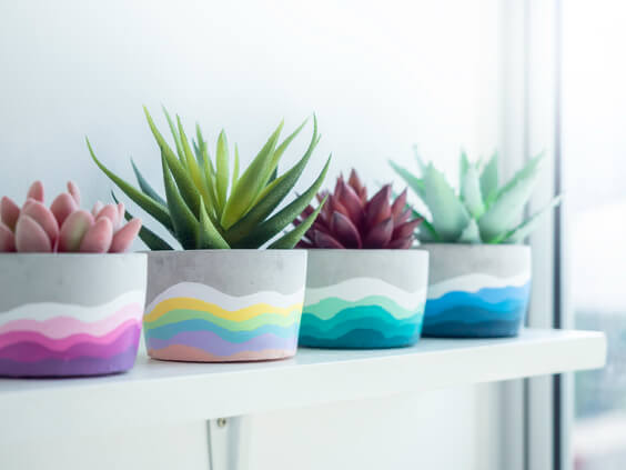 how to make cement planters to sell