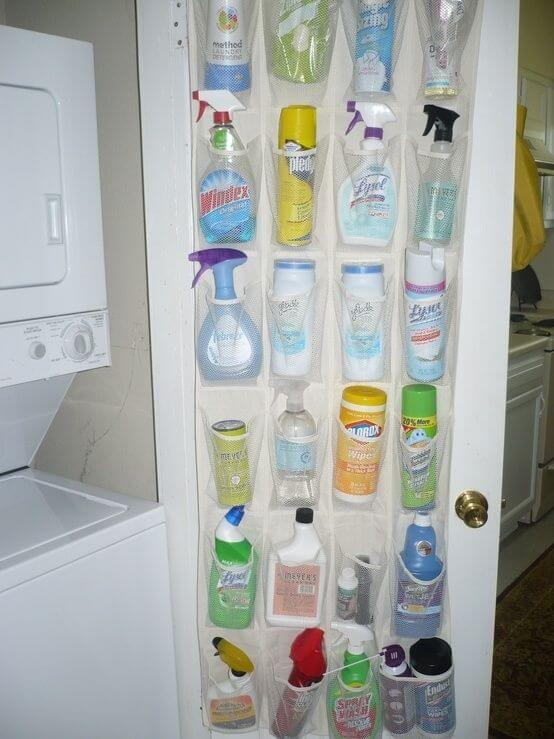 100 ways to organize - Streamline Your Cleaning products with a Shoe Organizer