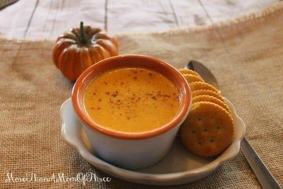 Creamy Parmesan Pumpkin Soup via @everythingabode