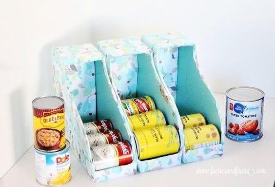 DIY Can Organizer for Pantry via @everythingabode