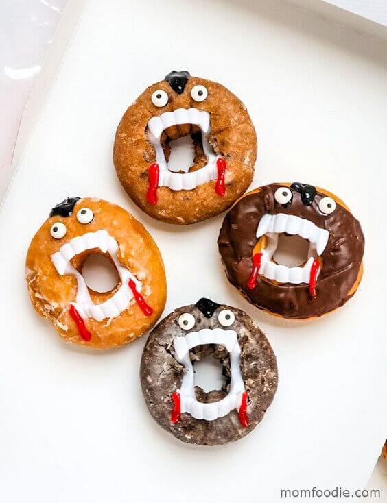 Easy HalloweenVampire Donuts