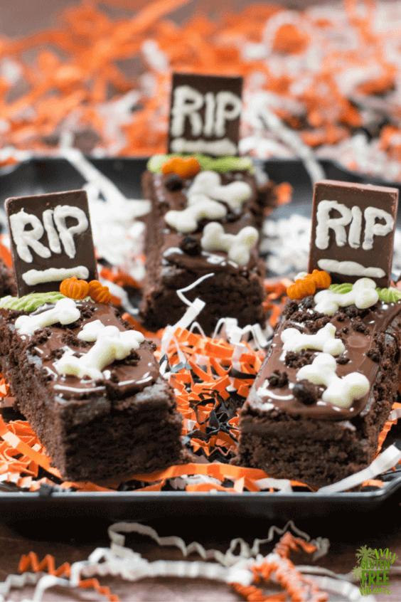 Gluten Free Tombstone Brownies