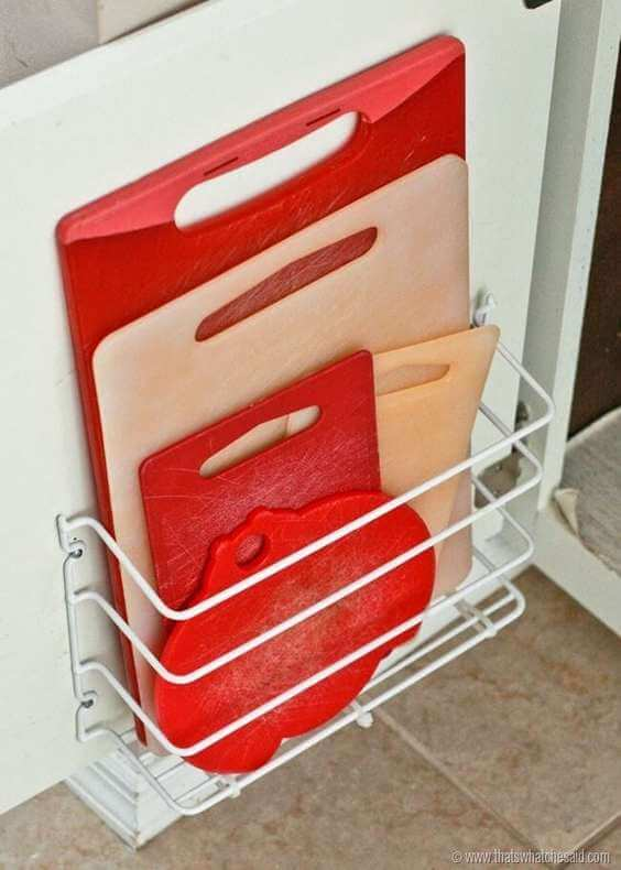 ORGANIZER CUTTING BOARDS WITH A WIRE HANGER