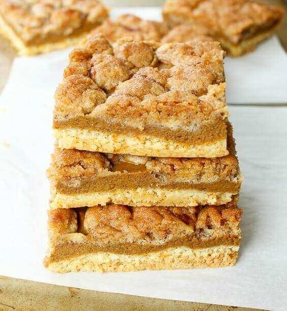 Pumpkin Pie Bars via @everythingabode