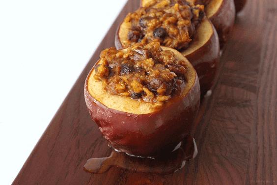 Slow Cooker Pumpkin Stuffed Apples via @everythingabode