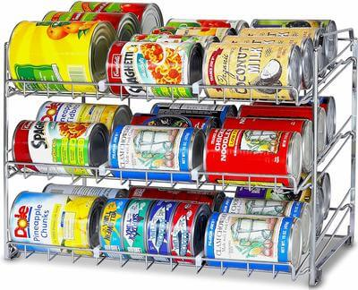 Stack cans in your pantry