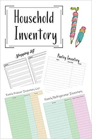 Track your household inventory. Kitchen and grocery list.