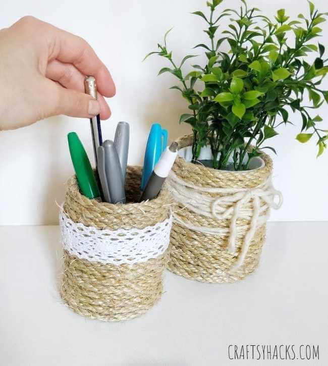 craftsyhacks.comdiy-rope-organizer-desk - Everything Abode