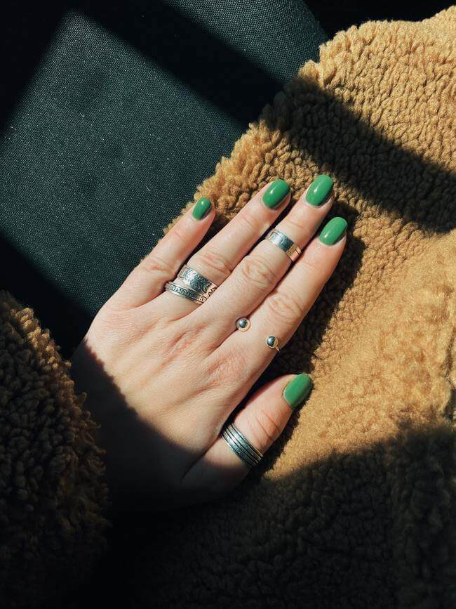 Give yourself a pedicure or follow this home manicure guide.-- Everything Abode