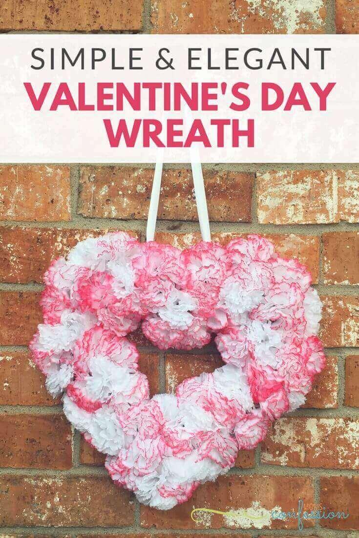 Valentine's Craft Idea #8.ELEGANT VALENTINE'S DAY WREATH - Everything Abode