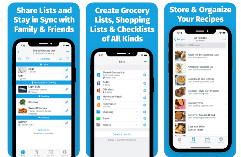 AnyList Grocery Shopping List on the AppStore