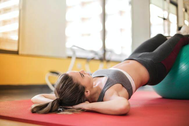 1. Classic Crunches for a flat tummy at home, exercise - Everything Abode