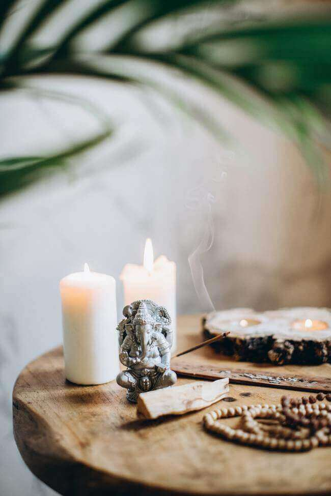 Light Candles for an relaxing spa day at home
