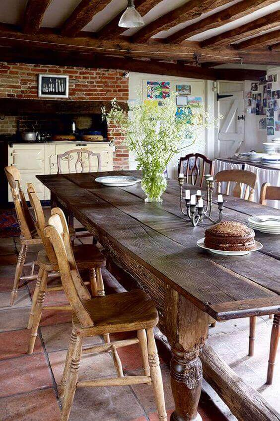 Old English Charm: Mismatched Old Rustic Wood Brings English Charm