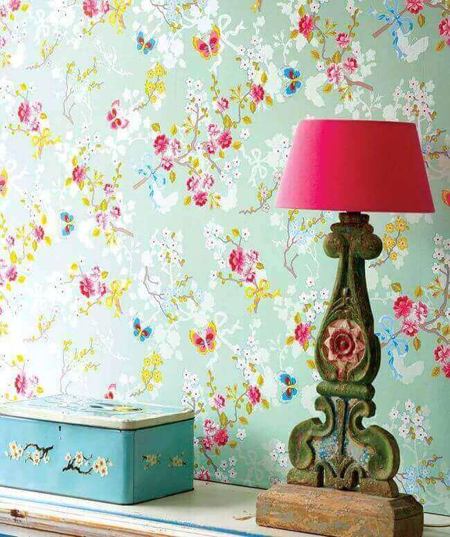 It's all about wallpaper Or bold paint -wallpaperfromthe70s.com