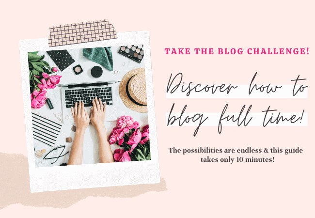 The Blog Challenge How to start a blog and blog full time all on your own! - Everything Abode