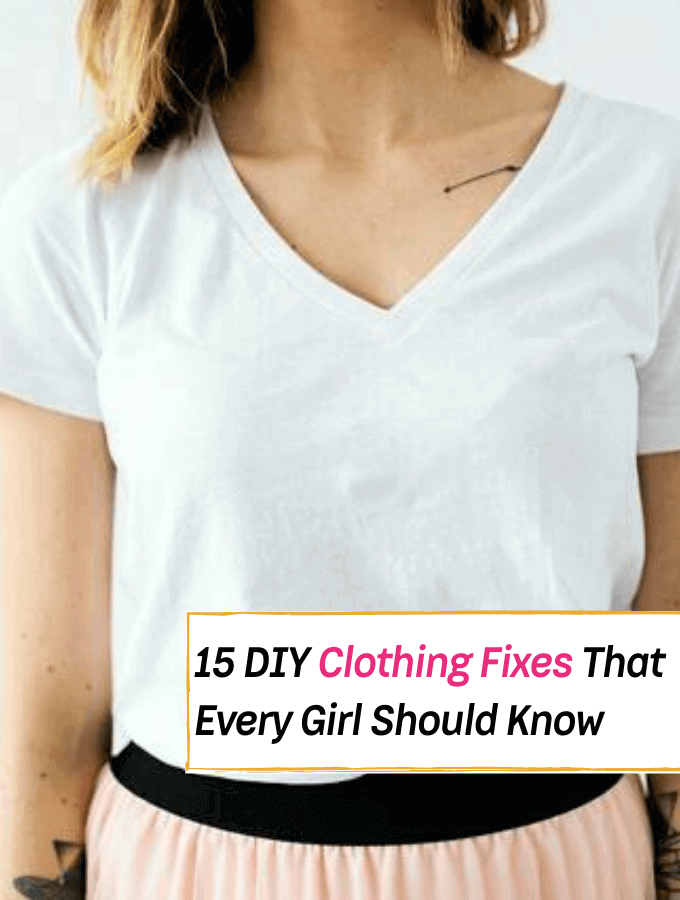 15 Brilliant DIY Clothing Fixes That Every Girl Should Know - Everything Abode