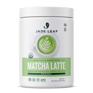 Jade Leaf Organic Matcha Latte Mix - Cafe Style Sweetened Blend - Sweet Matcha Green Tea Powder