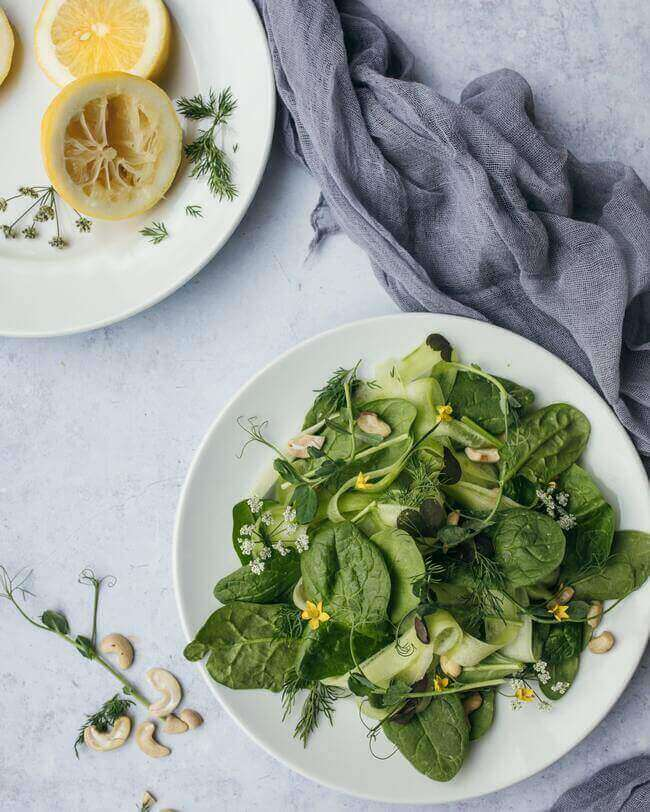 leafy greens, foods for flawless skin - Everything Abode