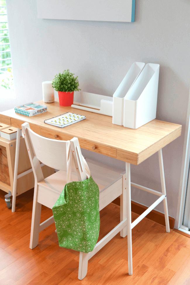 declutter your desk from your bedroom. bedroom items to ban from your bedroom. Your desk