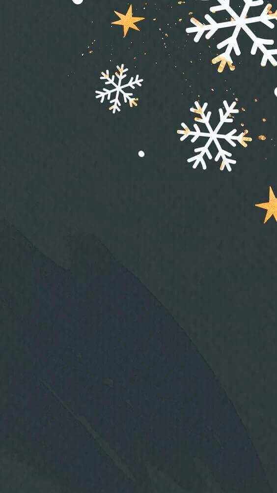 White snowflakes on black background, dark wallpaper phone wallpapers