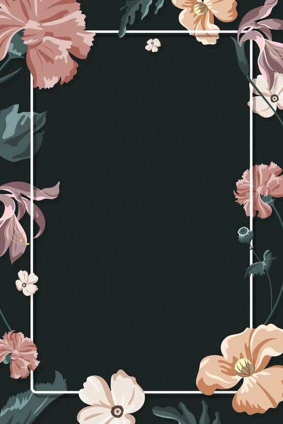 Floral black wallpaper for iPhone