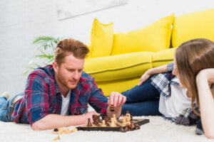 indoor hobbies for couples playing chess