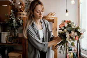 unique fun indoor hobbies for women, flower arranging