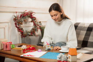 scrapbooking for a winter hobby indoors