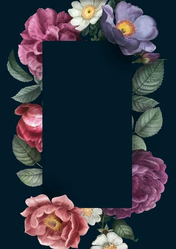 black floral dark wallpaper, iphone wallpaper for mobile backgrounds, black floral backgrounds