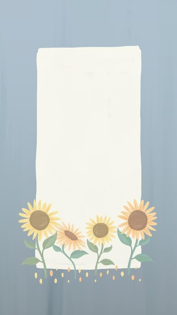 Sunflower notepad cute wallpaper