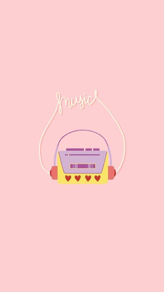 cute music sketch wallpaper background