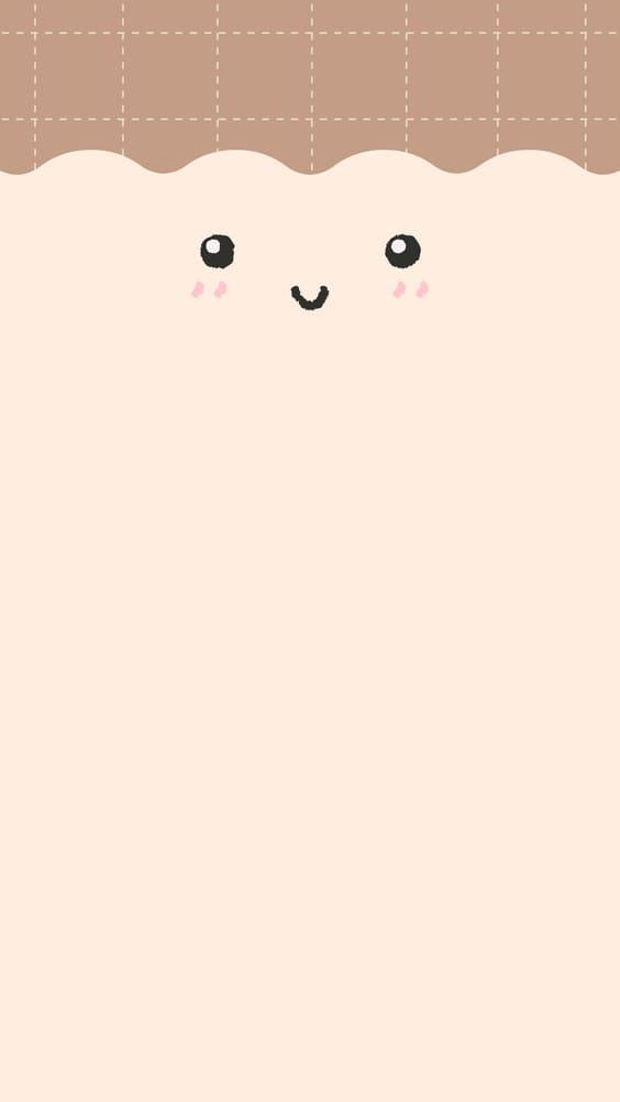 happy face sketch cute wallpaper