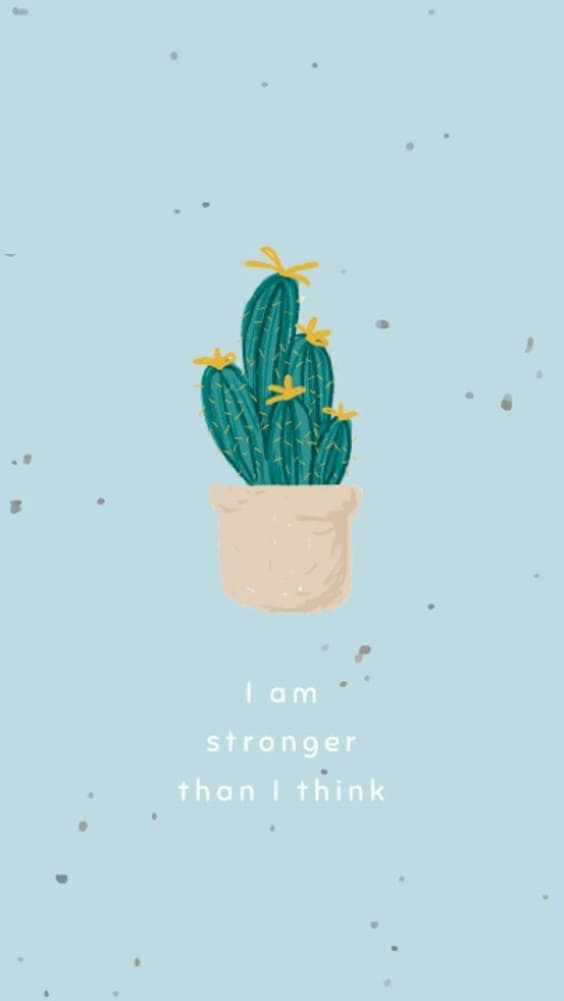 i am stronger than i think cute wallpaper