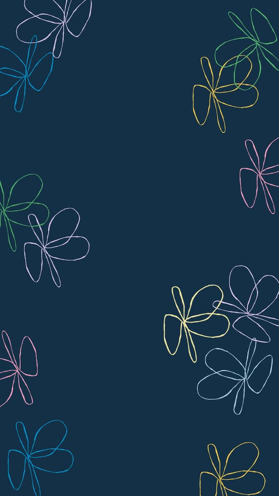 cute dark wallpaper of neon flowers