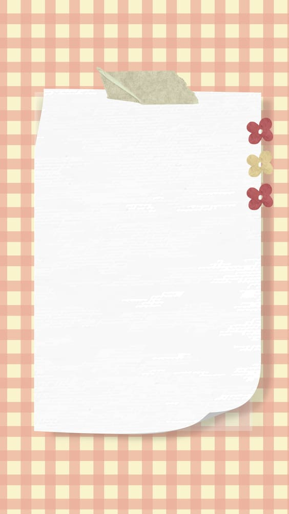 cute pink notepad wallpaper background