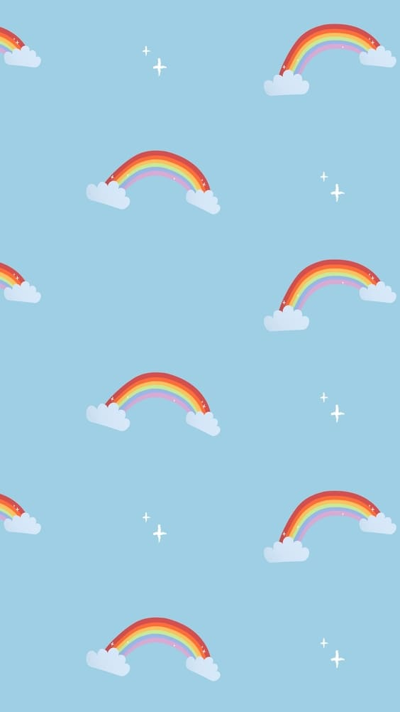 bright rainbow blue background wallpaper