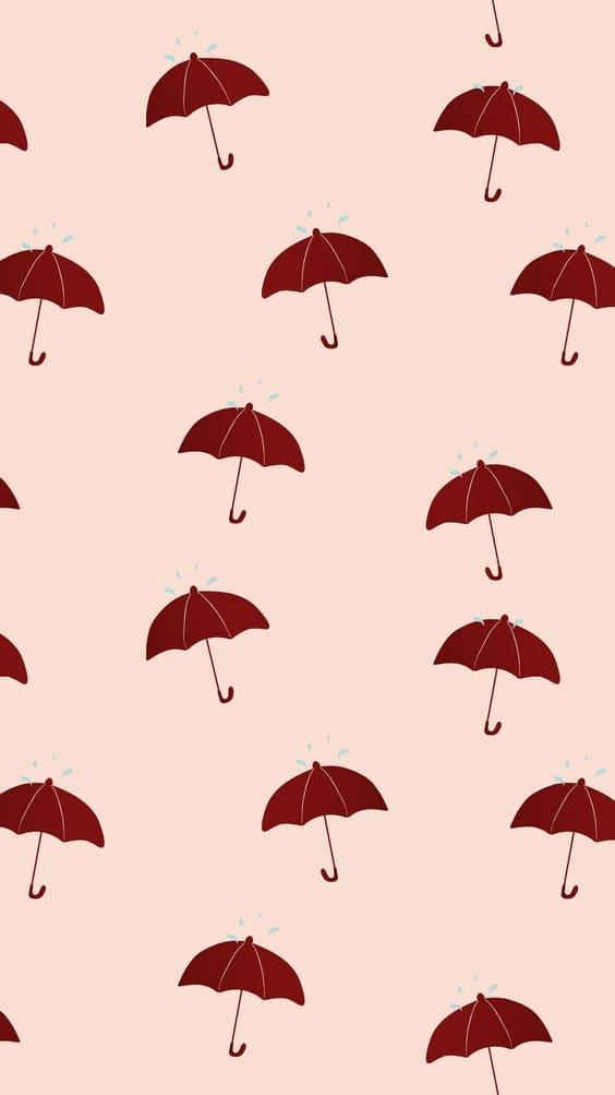 cute umbrellas mobile wallpaper