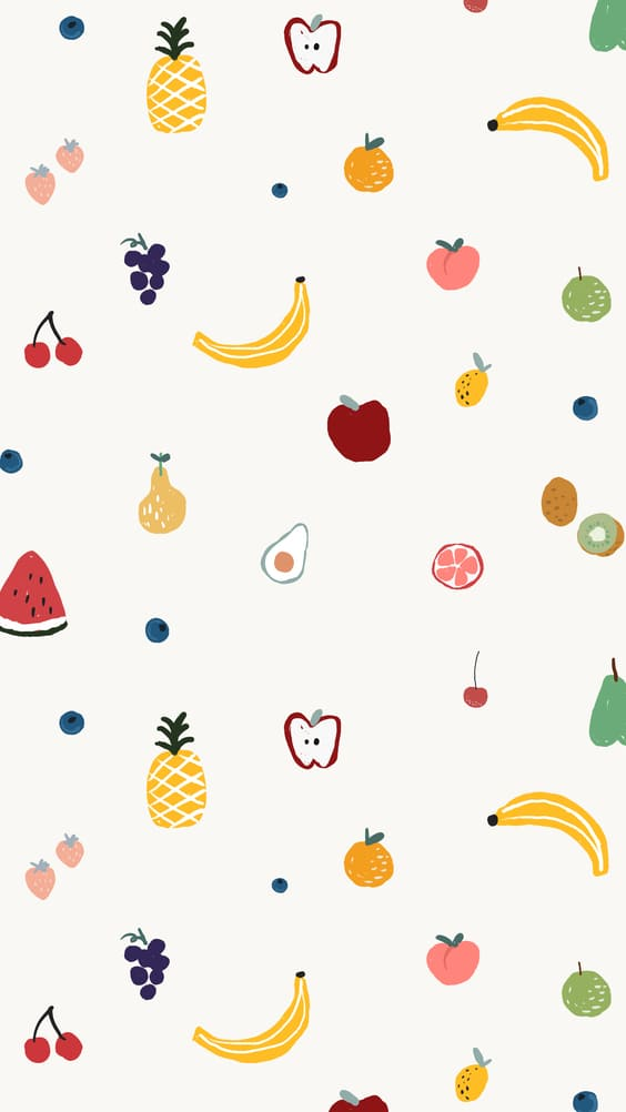 bright colorful fruit background and cute wallpapers