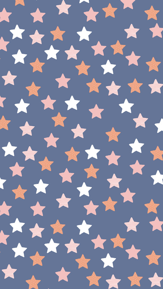 cute stars with blue background for phone wallpaper