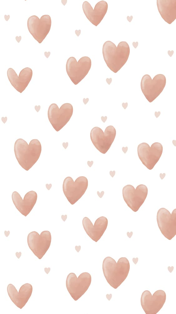floating pink hearts cute wallpaper