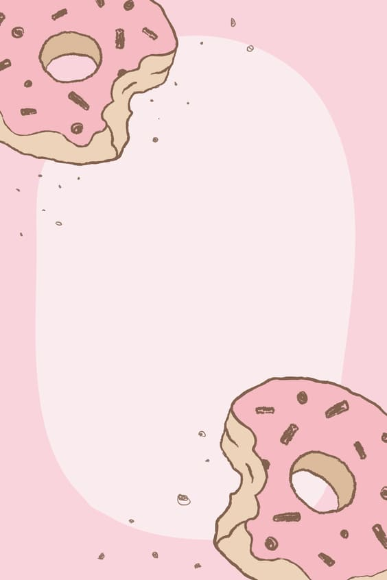 pink donuts cutest wallpapers
