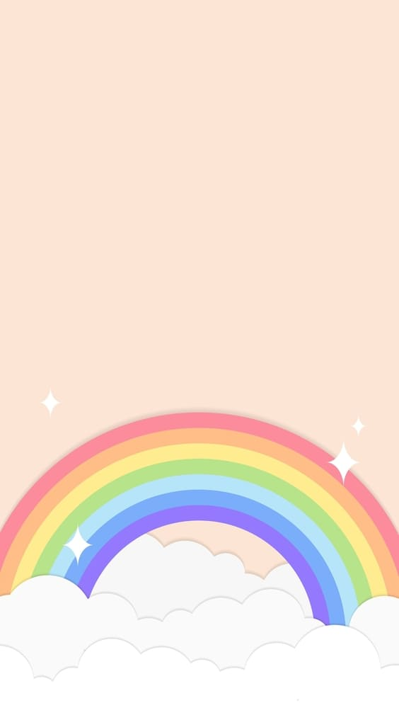 bright rainbow with pink background for phone